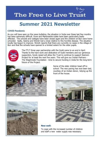 Summer 2021 A Newsletter - F1